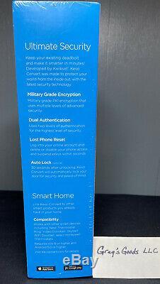 Smart Door Lock Conversion Kit Kwikset Bluetooth Keyless Venetian Bronze Alexa
