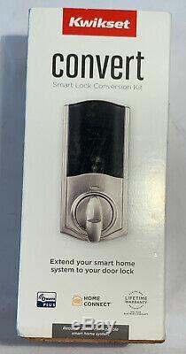 Smart Door Lock Conversion Kit Satin Nickel Z Wave Technology Keyless G3