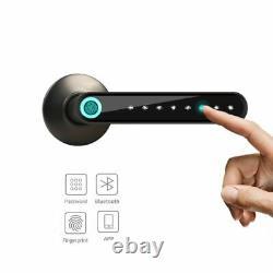 Smart Door Lock Fingerprint Bluetooth Password Handle Keyless Works iOS/Android
