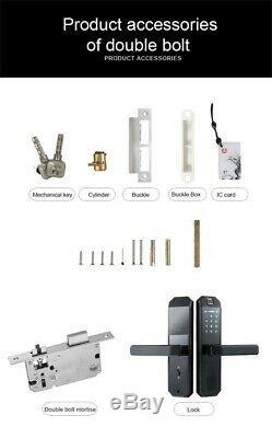 Smart Door Lock Fingerprint Passcode Unlock Keyless Entry Home Office Security