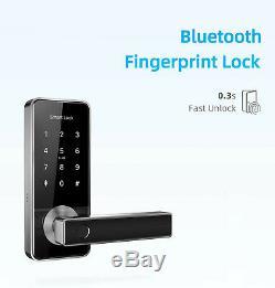 Smart Door Lock Fingerprint Waterproof Outdoor Keyless Biometric Apartmen House