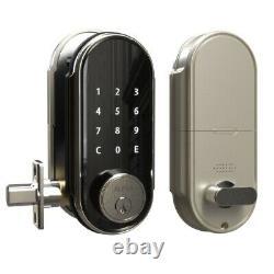 Smart Door Lock Touchscreen Keyless Satin Nickel Electronic Keypad Digital Black