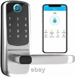 Smart Door Lock with Keyless Entry, Fingerprint, Touchscreen, Anti-peep Passcode