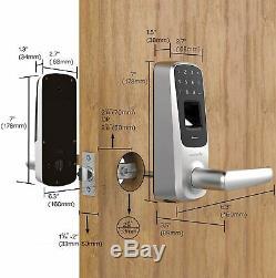 Smart Door Touch Lock S2 APP Fingerprint Bluetooth Keyless Entry Satin Nickel