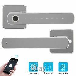 Smart Electronic Door Lock APP Fingerprint Password Keyless Home Security Lock