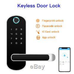 Smart Fingerprint BT-Door Lock Biometric Passcode Unlock Keyless For Home Hotel