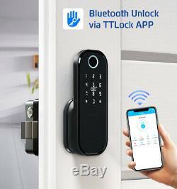 Smart Fingerprint Door Lock Keypad Keyless Electronic Smart Card App Unlock Home