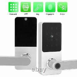 Smart Fingerprint Door Lock Password Keypad APP Card Key unlock Access Control