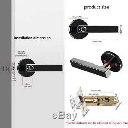 Smart Fingerprint Door Lock Security Keyless Biometric Digital USB Touchscreen