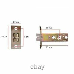 Smart Keyless Door Lock Mechanical Keypad Password Entry Home Security 60mm Latc