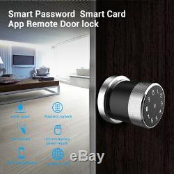 Smart Keyless Doorlock IC card Phone App Remote Unlock USB Charging Entry Lock