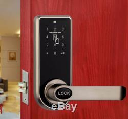 Smart Keypad Code Door Lock Intelligent Digital Card Keyless I-way Home, Silver