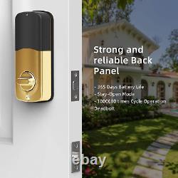 Smart Lock SMONET Bluetooth Keyless Entry Keypad Smart Deadbolt-Fingerprint Elec