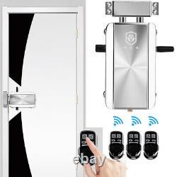 Smart Wireless Door Lock Kit Remote Control Keyless Entry Home Hotel Apartment