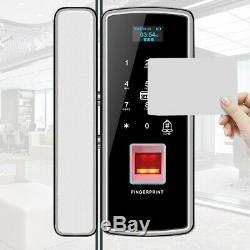 Smart keyless door lock glass touch screen fingerprint wireless digital lock