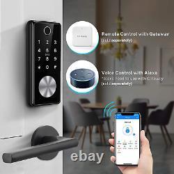 Tiffane Keyless Entry Door Lock Deadbolt, Biometric Fingerprint Door Lock, Smart