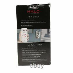USED Kwikset 99380-001 Halo Wi-Fi Keyless Entry Smart Lock in Satin Nickel