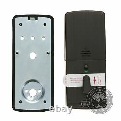 USED PIN Genie Lockly Bluetooth Keyless Entry Smart Door Lock Venetian Bronze