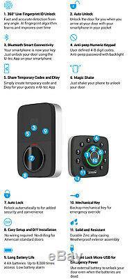 Ultraloq E-bolt pro smart lock fingerprint DeadBolt Keyless entry with bridge