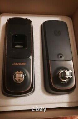 Ultraloq UL3-AB Fingerprint and Touchscreen Keyless Smart Lever Door Lock. New