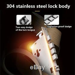 Universal 100 Groups Fingerprint Smart Door Lock Password Touch 5 Way Keyless