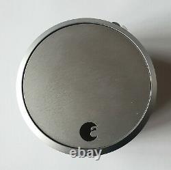Unused Silver August Smart Lock 1st Gen Bluetooth Keyless Entry in Retail Pkg