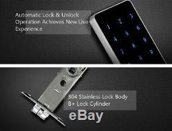 WIFI Bluetooth digital Smart Door Lock Deadbolt Keyless mobileAPP Touch Pin
