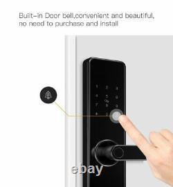WiFi Bluetooth Smart Door Lock APP Remote Keyless Fingerprint Deadbolt RFID Card
