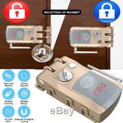 WiFi Bluetooth Smart Door Lock Deadbolt Keyless Alarm-Security Remote-Ctrol E2T6