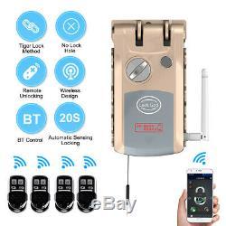 WiFi Bluetooth Smart Door Lock Remote Control Keyless Anti-theft Deadbolt A Y9S6