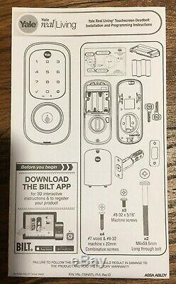 Yale Assure Smart Lock Touchscreen Keyless Entry Works with Alexa, Nickel YRD226AZ