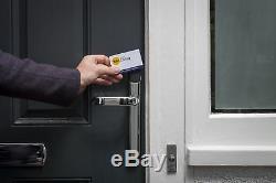 Yale Conexis L1 Smart Door Lock Chrome Keyless PVC Composite Smartphone Security