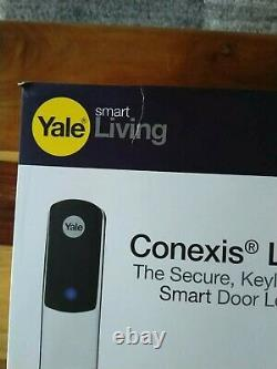 Yale Conexis L1 Smart Door Lock White Keyless Bluetooth Security Handle NEW