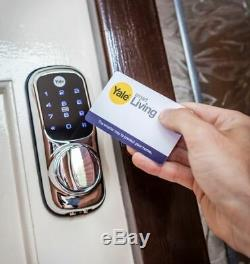 Yale Keyless Connected Touch Screen Smart Door Lock CHROME RFID PIN CODE