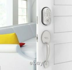 Yale Yrd216 Smart Lock Deadbolt Satin Touch Pad Keyless Zwave Alexa + more