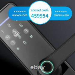 100 Fingerprint Electronic Smart Digital Keyless Door Lock Password Card Key