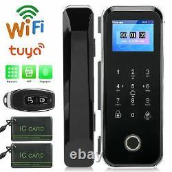 2.4 Smart Wifi Electronic Door Lock Fingerprint Password Keypad Card Anti-theft
