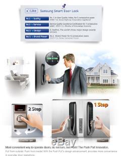 2016 Samsung Shp-dp720 Clé Moins Poussée De L'extérieur Nouveau Door Lock Numérique Intelligent