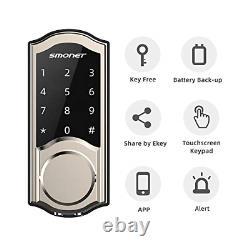 2020 Newest Smart Door Lock, Smonet Smart Deadbolt Bluetooth Keyless, Activer