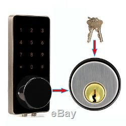 2pcs Panneau De Verrouillage Sans Clé Bluetooth De Serrure De Porte Intelligente Par Smartphone Home Entry Locks