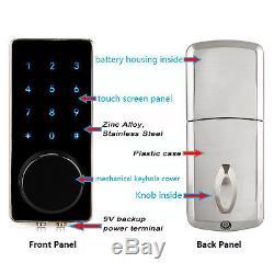 2x Smart Keyboard Bluetooth Keyless Lock Panel Surveillance En Temps Réel Entrée À Domicile