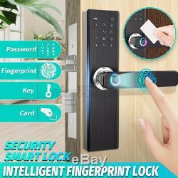 4 En 1 Sécurité Sans Clé Intelligente De Verrouillage De Porte D'empreintes Digitales Et Mot De Passe De Verrouillage De Porte # @ U