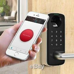 4-en-1 Sans Clé Intelligent De Verrouillage De Porte Biométrique D'empreinte Digitale Bluetooth Verrouillage Du Clavier
