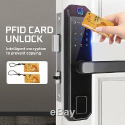 5 En 1 Mot De Passe Keyless Touchcreen Digital De Serrure De Porte Intelligente D'empreinte Digitale Électrique