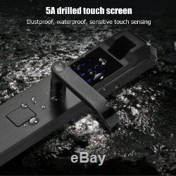 5 Façons D'empreintes Digitales Serrure De Porte Intelligente Mot De Passe Numérique Écran Tactile Sans Clé Anti-vol