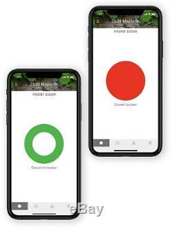 Août Smart Lock + Connect Wi-fi Brige, Nickel Satiné, Travaille Avec Alexa. Sans Clé