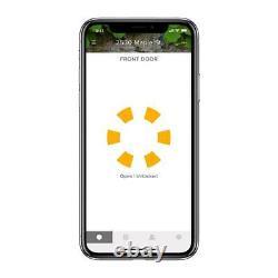 Août Smart Lock Deadbolts Aluminium Électronique Keyless Bluetooth Dark Gray