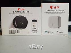 Août Smart Lock Pro + Connect Wi-fi Bridge, 3ème Génération De La Technologie Gris Foncé