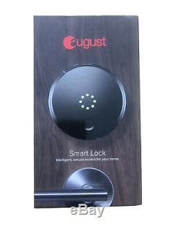 Août Smart Lock Sans Clé Accueil Entrée Avec Votre Smartphone, Gris Foncé Tout Neuf