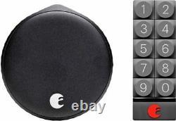 Août Wi-fi Smart Lock + Smart Keypad Matte Black